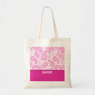 Pink Paisley Pattern Tote Bag