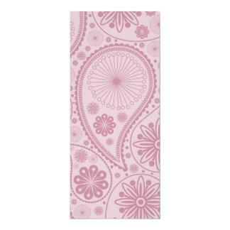 Pink paisley pattern card