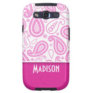 Pink Paisley Pattern Samsung Galaxy SIII Case