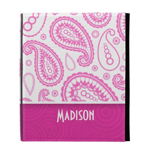 Pink Paisley Pattern iPad Cases