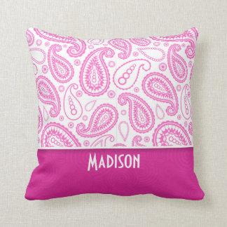 Pink Paisley Pattern Throw Pillows