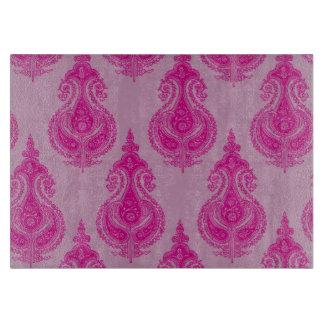 Pink paisley pattern cutting board