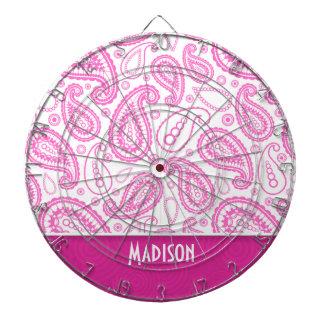 Pink Paisley Pattern Dartboards
