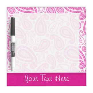 Pink Paisley Pattern Dry Erase Board