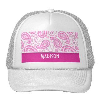 Pink Paisley Pattern Mesh Hats