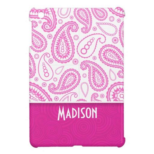 Pink Paisley Pattern iPad Mini Covers