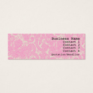 Pink Paisley Pattern Modern Skinny Business Card
