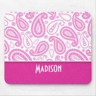 Pink Paisley Pattern Mouse Pad