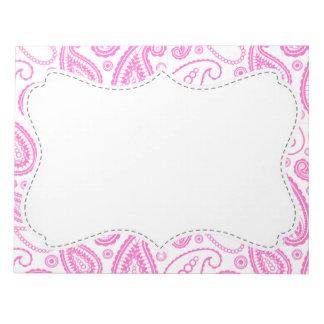 Pink Paisley Pattern Memo Pads