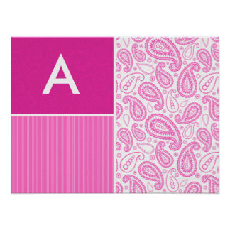 Pink Paisley Pattern Print