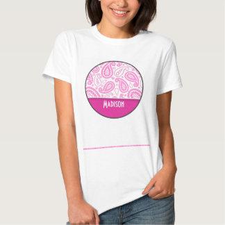 Pink Paisley Pattern T-shirt