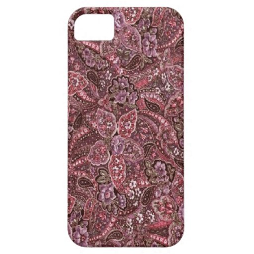 Pink Paisley Print iPhone 5 Cover