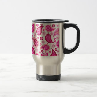 Pink Paisley Travel Mug
