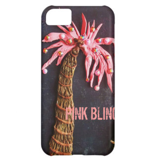 PINK PALM, PINK BLING CASE FOR iPhone 5C
