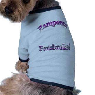 Pink Pampered Pembroke Template Dog T-shirt