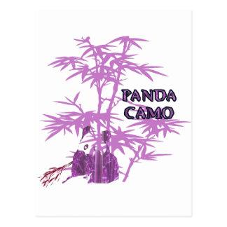 Pink Panda Camo Postcard