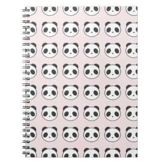 Pink Panda Pattern Notebook