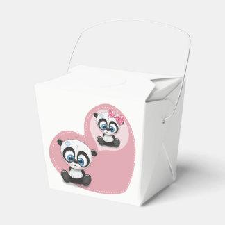 Pink Panda Teddy Bear Wedding Party Engagement Favour Box