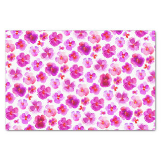 Pink pansy watercolor flower art tissue paper