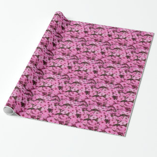 pink pansy wrapping paper