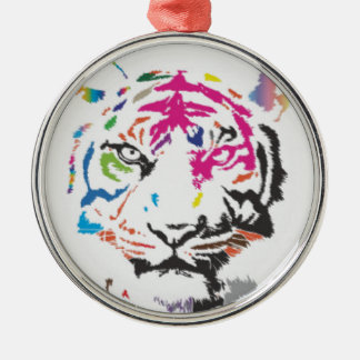 Pink Panther Madness Silver-Colored Round Decoration