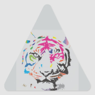 Pink Panther Madness Triangle Sticker