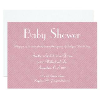 Pink Paper Baby Shower 17 Cm X 22 Cm Invitation Card