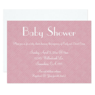 Pink Paper Baby Shower Card