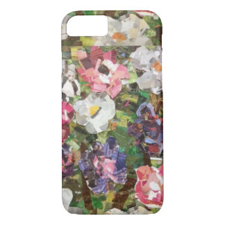 Pink Paper Flower Collage I Phone Case