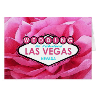 Pink Paper Mache LAS VEGAS WEDDING Card