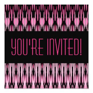"Pink Paradise Custom Party Invitation 5.25"" Square Invitation Card"