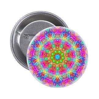 Pink Paradise Mandala Design 6 Cm Round Badge
