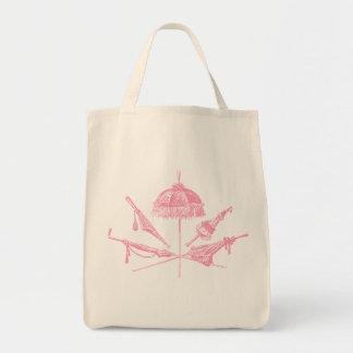 Pink Parasols Grocery Tote Bag