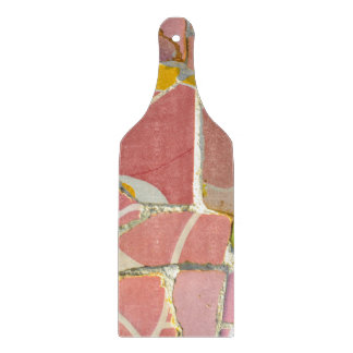Pink Parc Guell Tiles in Barcelona Spain Cutting Board