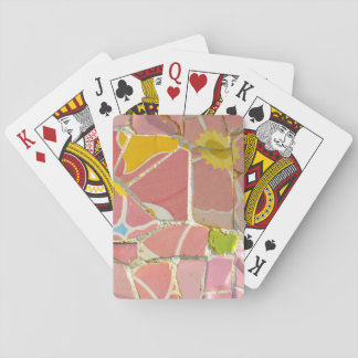 Pink Parc Guell Tiles in Barcelona Spain Playing Cards