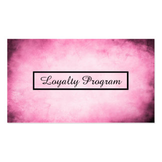 pink parchment loyalty program pack of standard business cards