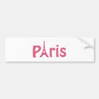 Pink Paris Bumper Sticker