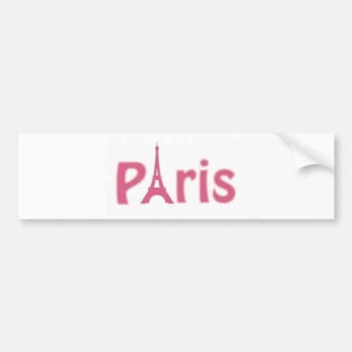 Pink Paris Bumper Sticker