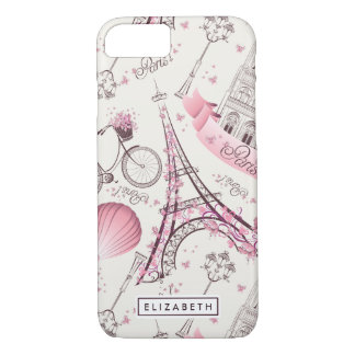 Pink Paris Eiffel Tower Case-Mate iPhone 8/7 Case