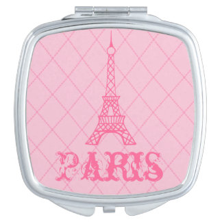 Pink Paris Eiffel Tower Compact Mirror Gift