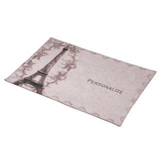 Pink Paris Grunge Placemat