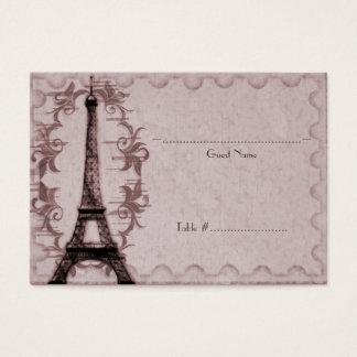 Pink Paris Grunge Reception Seating Card