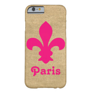 Pink Parisian Moods Fleur de Lys Barely There iPhone 6 Case
