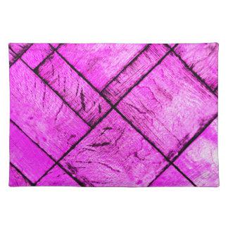 Pink Parquet Floor Placemats