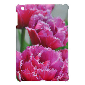 Pink parrot tulips iPad mini cover