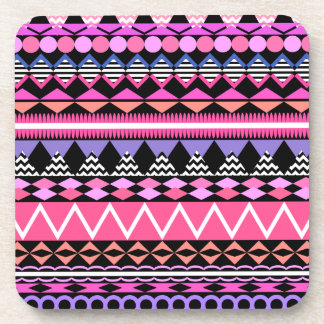 Pink Party Aztec Pattern Coaster