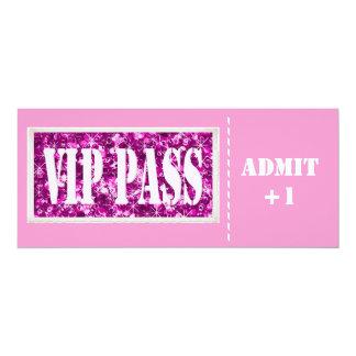 Pink party VIP invitation