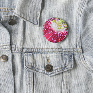 Pink Passion Flower Badge