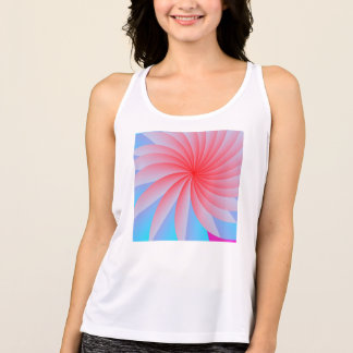 Pink Passion Flower Workout Tank Top