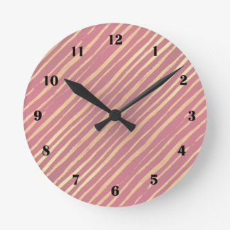 Pink Passion Golden Stripes Clock